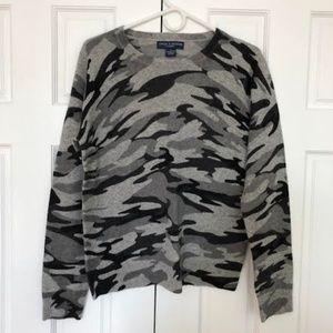 Chelsea & Theodore Cashmere Camo Sweater (L)
